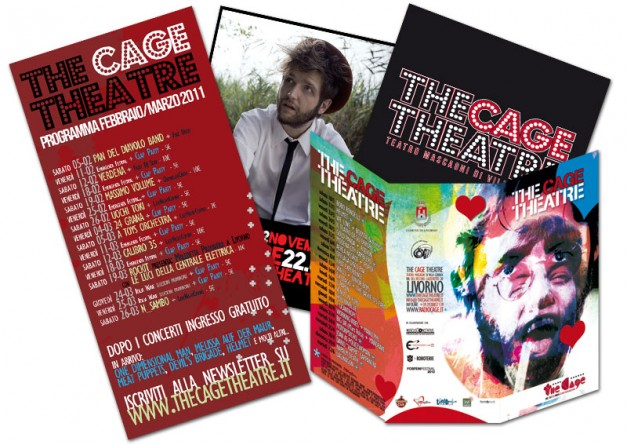 Materiale comunicazione The Cage Theatre
